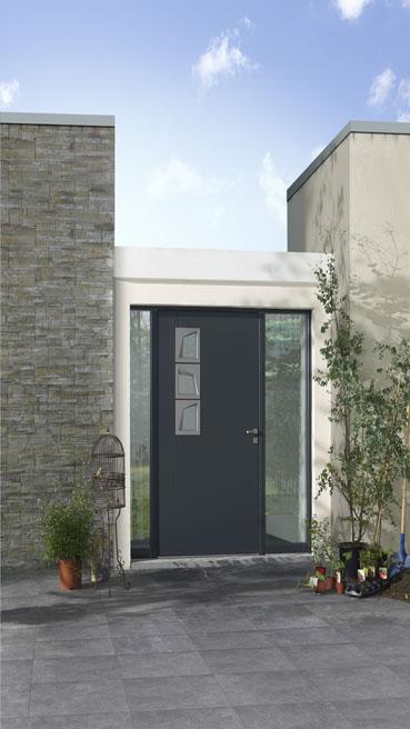 Porte aluminium avantages de l installation et prix top chantier menuiserie - Porte aluminium prix ...